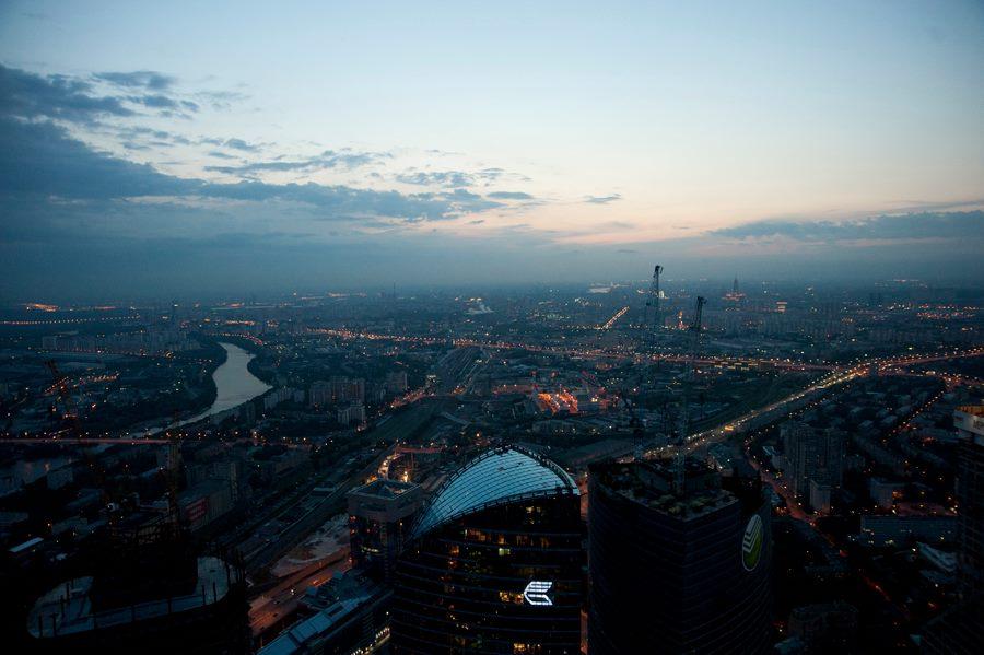 Une vue sur Moscou depuis le quartier d'affaire