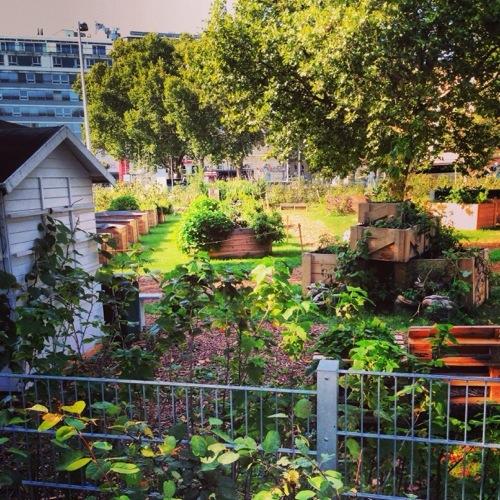 Un parc en style recul' au centre de Vienne