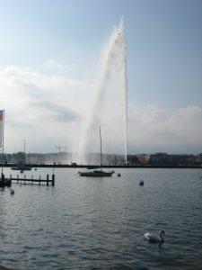 Sur les bords du lac Léman à Genève
