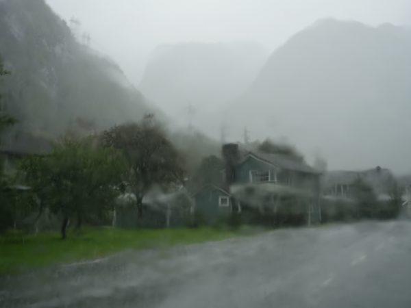 La Norvège sous la pluie
