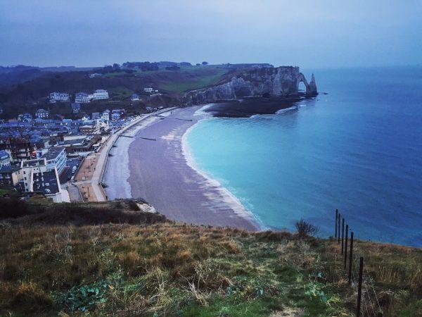 Etretat en Normandie, dans le nord ouest de la France
