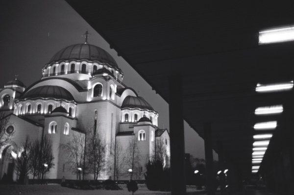 Une cathédrale orthodoxe à Belgrade, Serbie