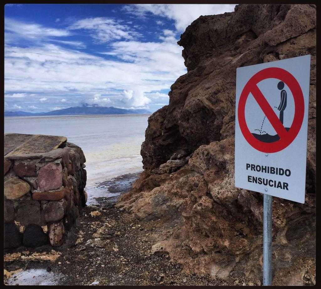 Dommage... Le paysage bolivien était parfait pour se détendre...