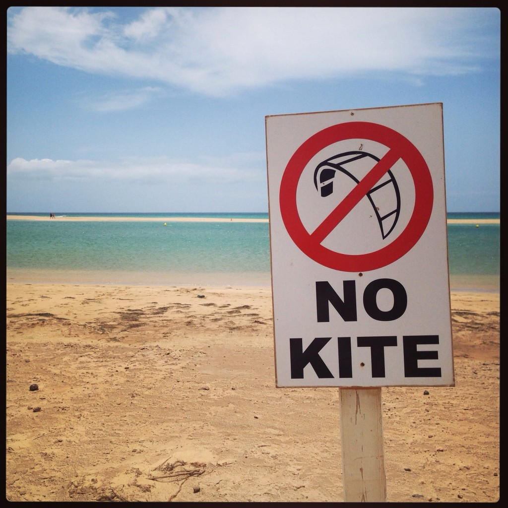 Plage interdite au Kite surf