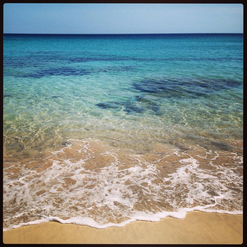 Une plage sur la côte est des Canaries