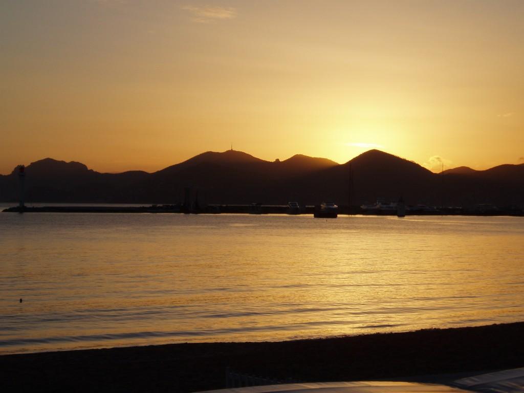 Coucher de soleil à Cannes