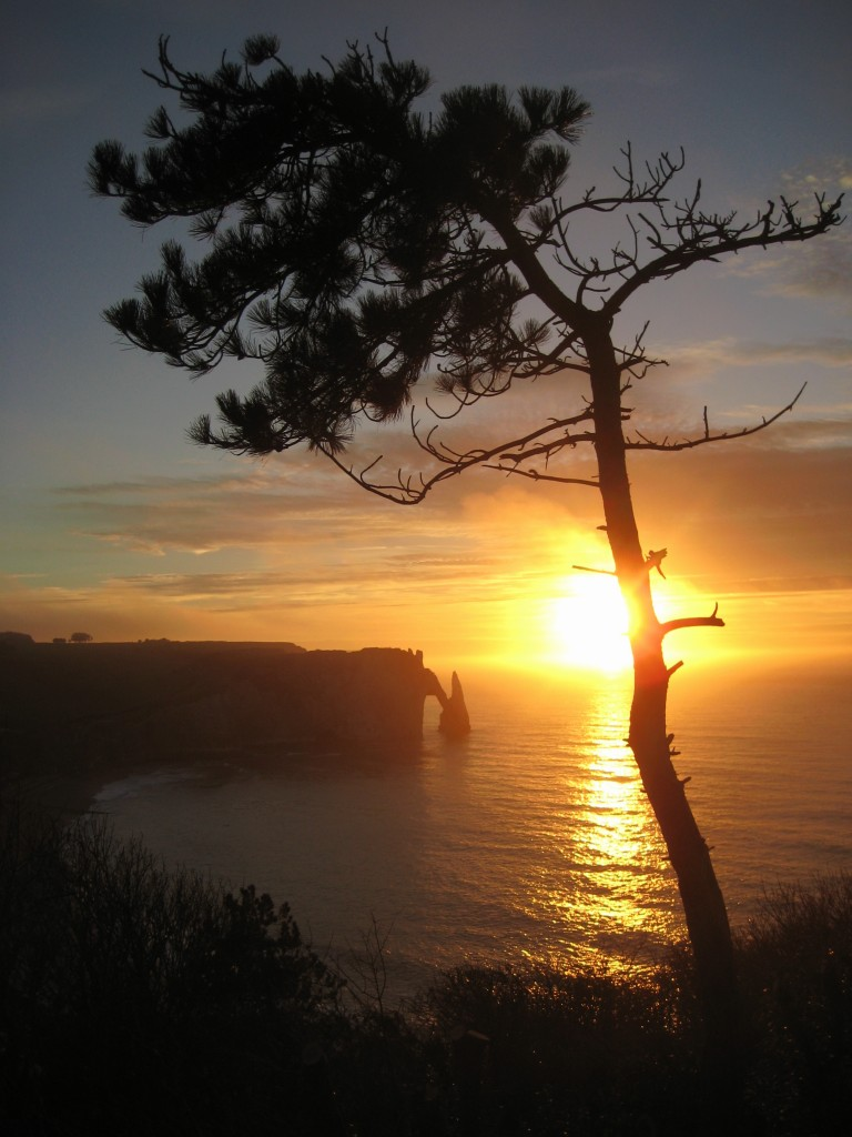 La côte normande sous le soleil