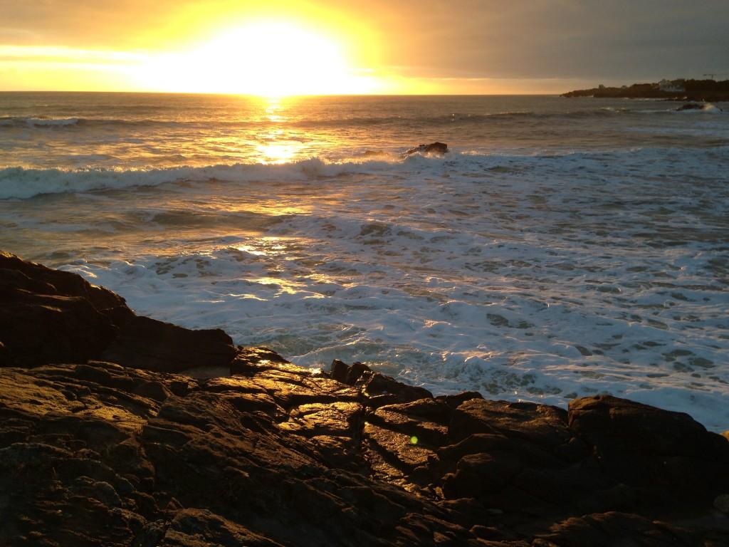Un coucher de soleil en Bretagne