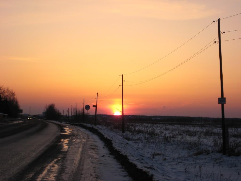 Coucher de soleil en Russie