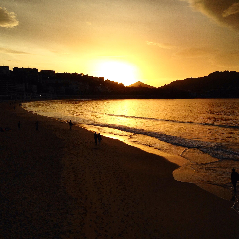 Coucher du soleil San Sebastian
