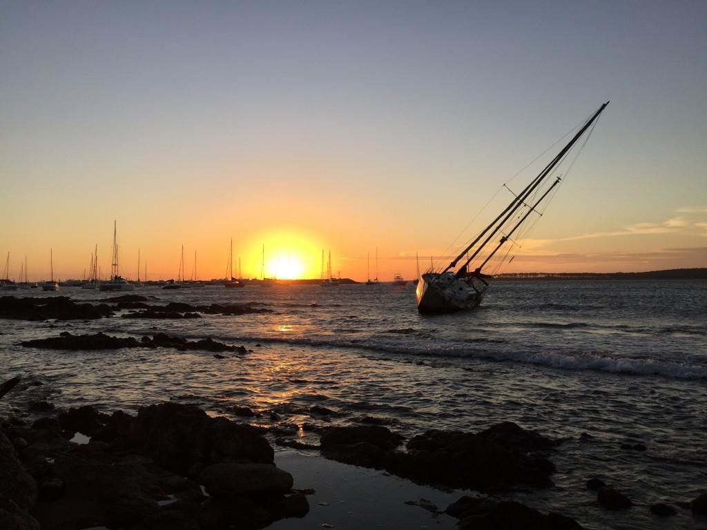 Un coucher de soleil à Punta del Este, Uruguay