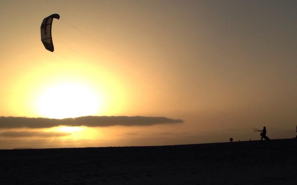 Coucher de soleil sur une île des Canaries