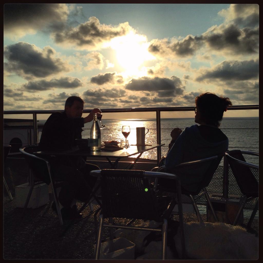 Coucher de soleil sur Guéthary au pays basque