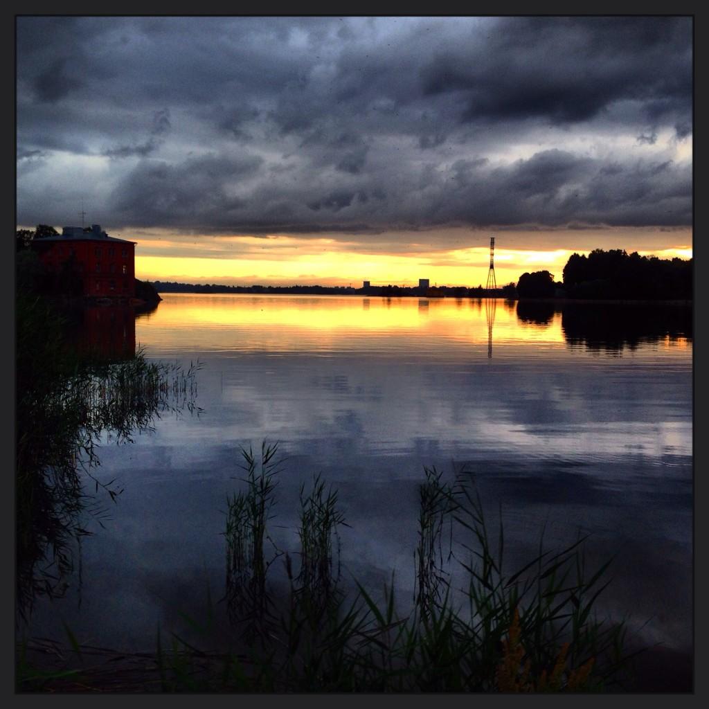Coucher de soleil à Helsinki.