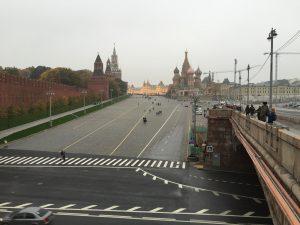 Moscou dans la brume en automne