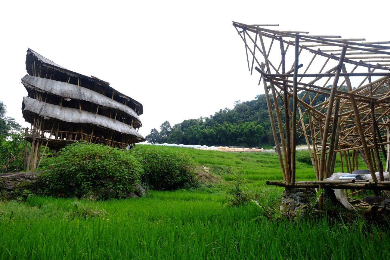 Une hutte géante en Bambou dans le nord de la Thaïlande