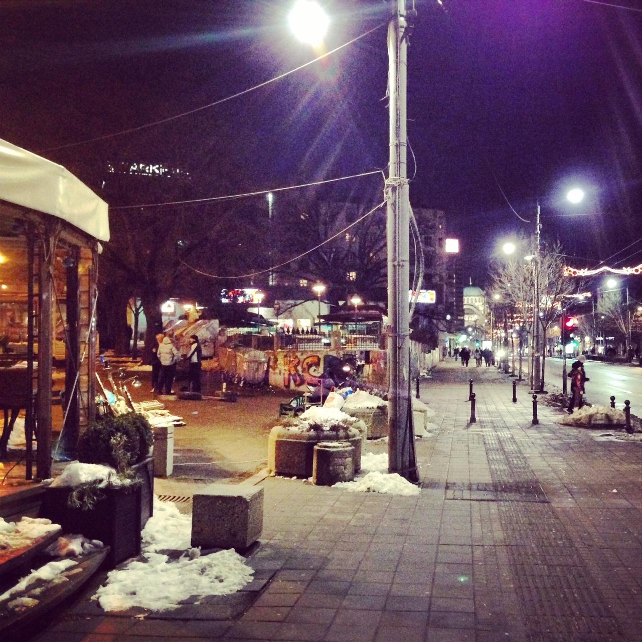 Belgrade la nuit, j'adore