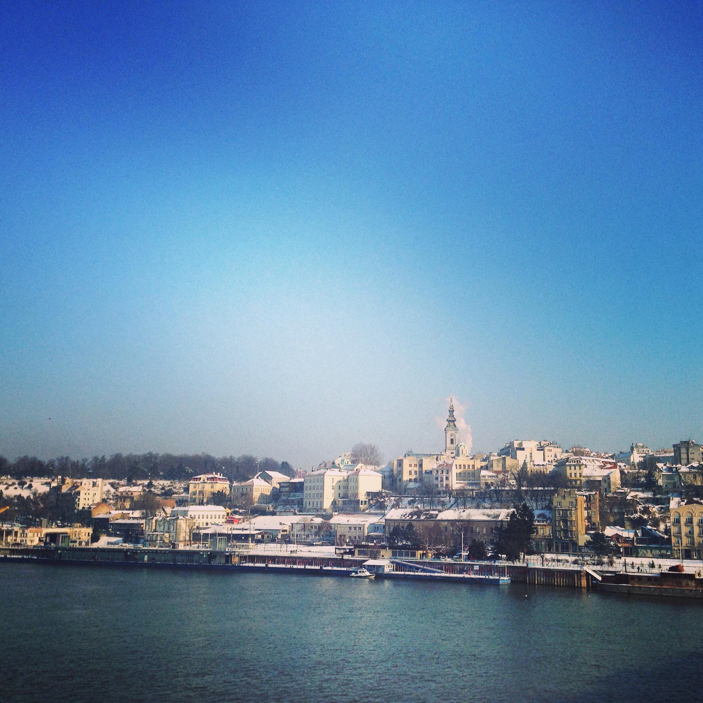 Les quais de Belgrade, les bords du Danube