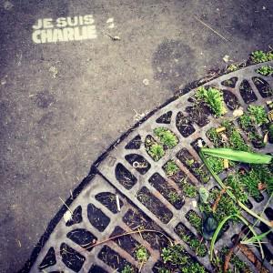Street art, Paris, homage à Charlie Hebdo