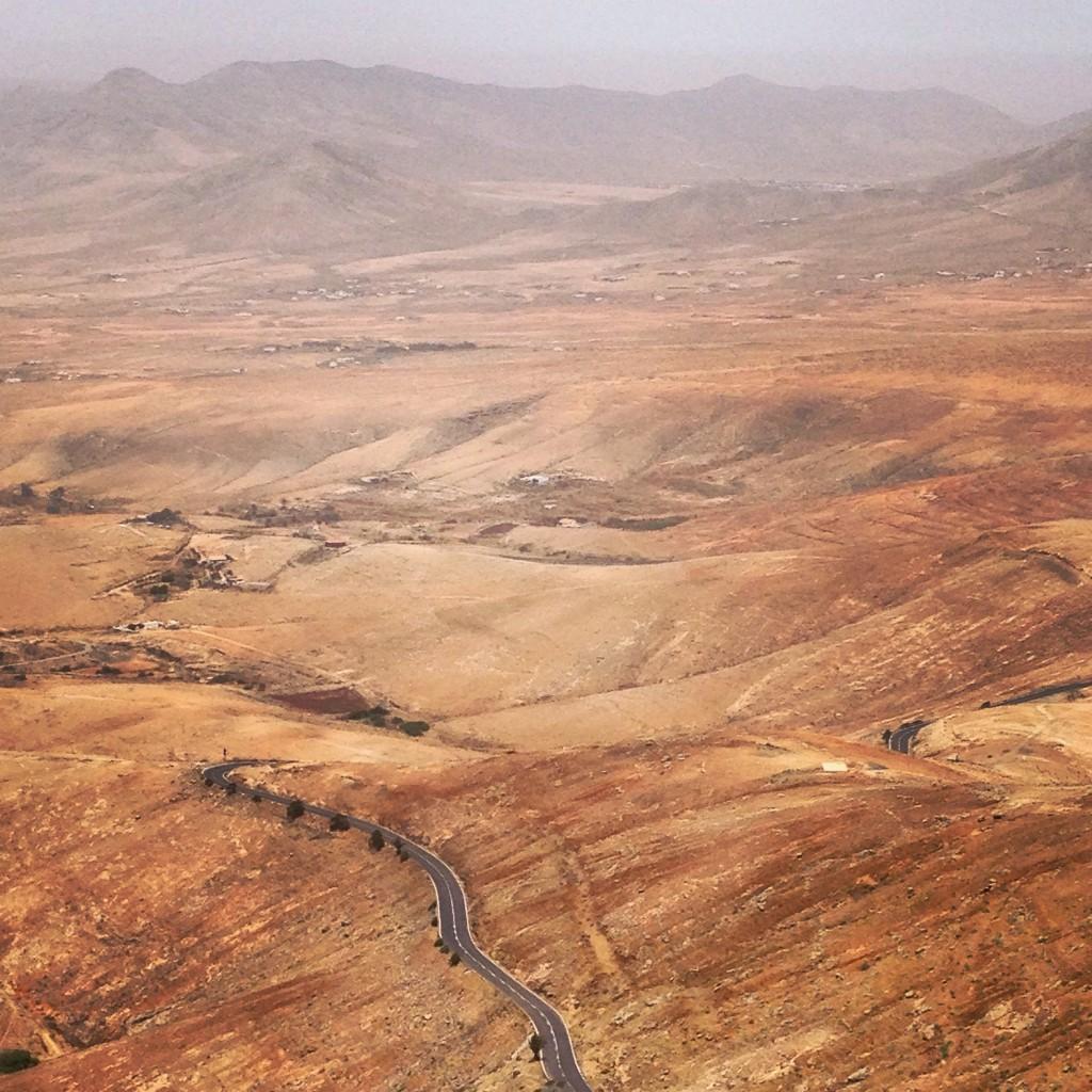 La plus belle route des Canaries sur l'île de Fuerteventura