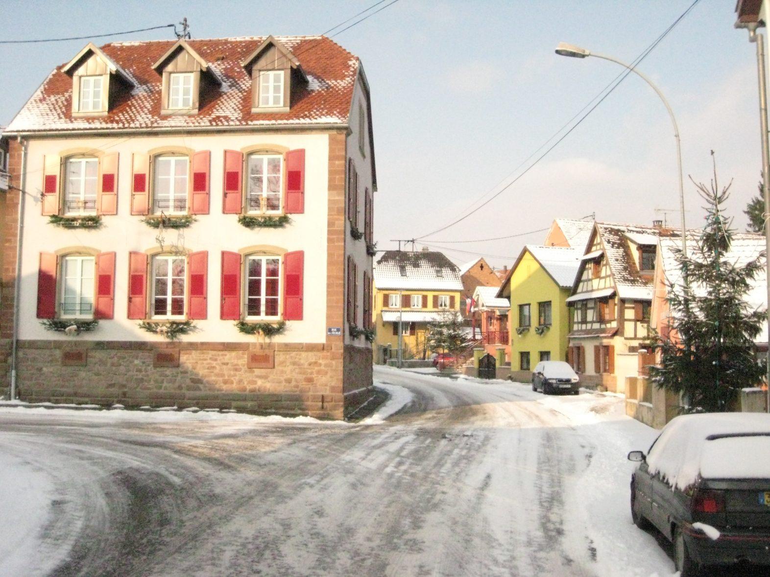 L'Alsace sous la neige
