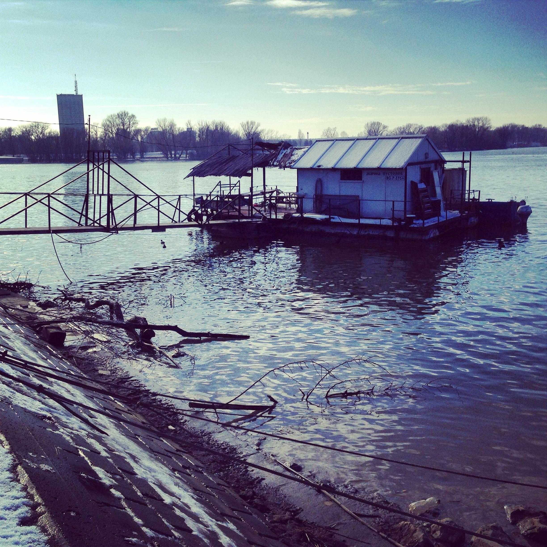 Un café flottant sur le Danube