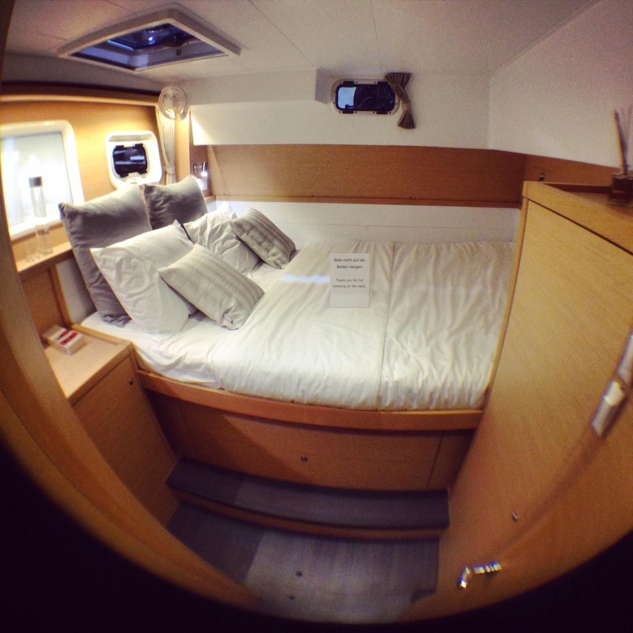une des deux cabines arrières du Lagoon 39