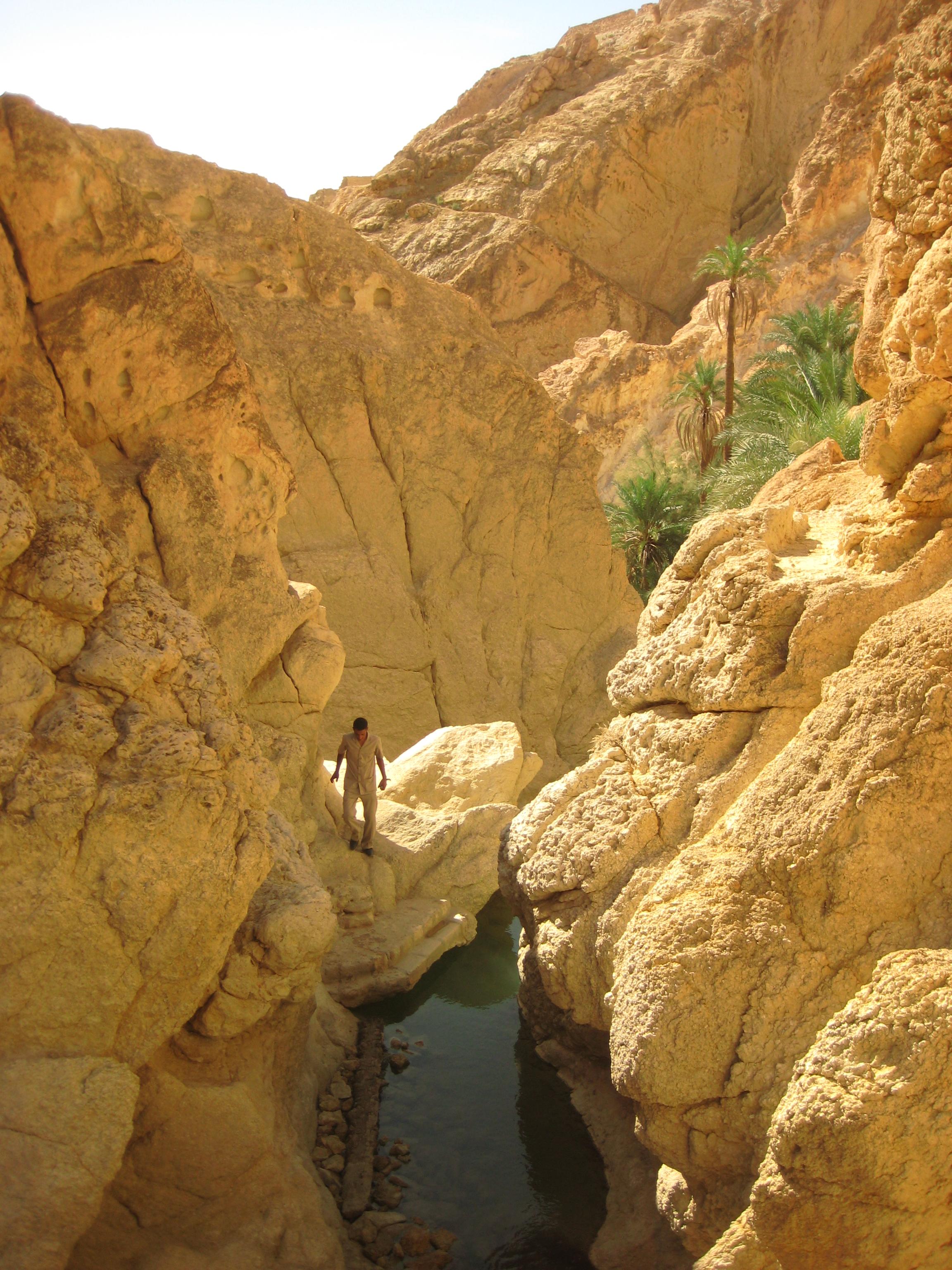 L'eau jallit de la roche