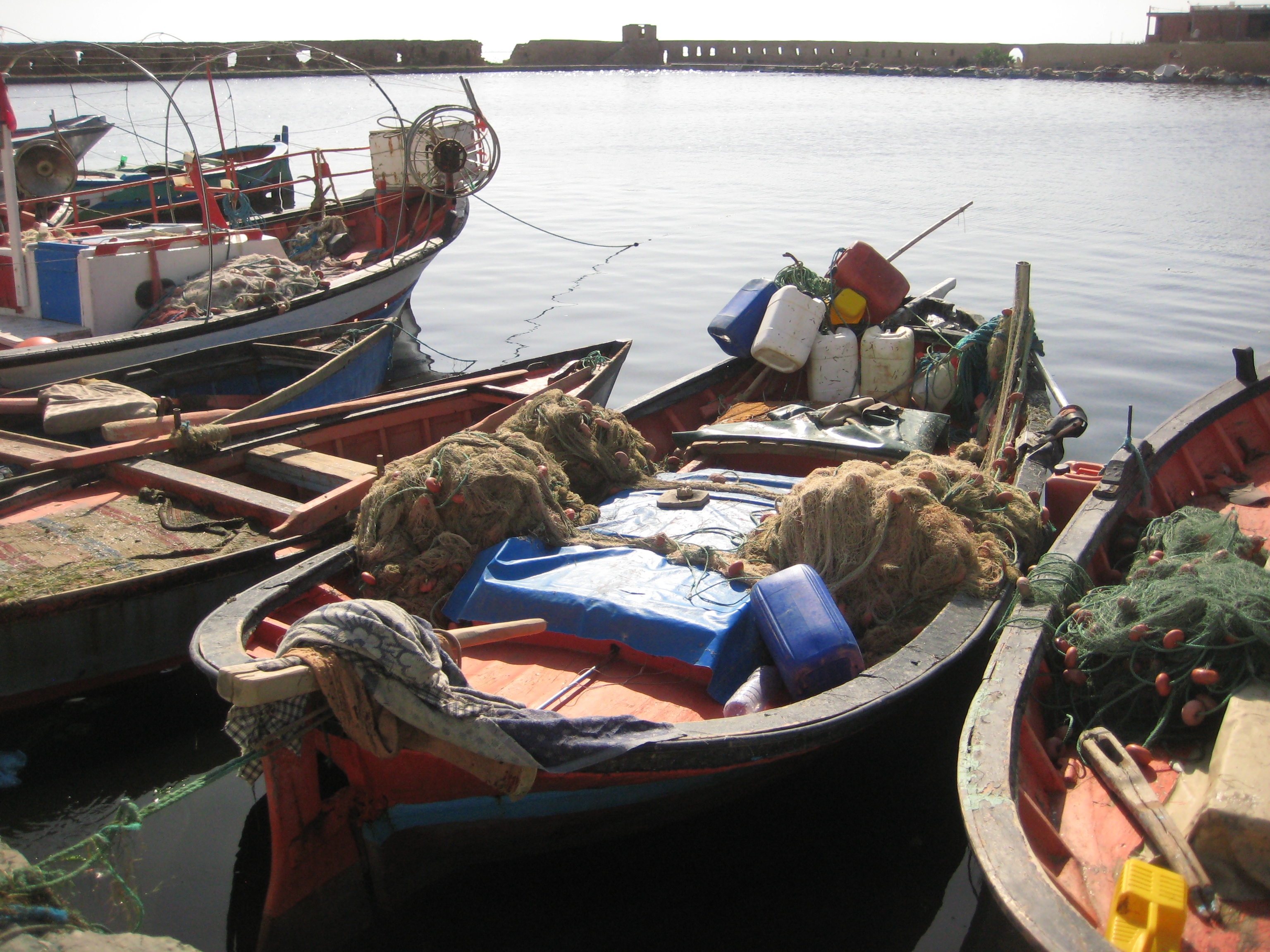Petit port de pêcheurs tunisien