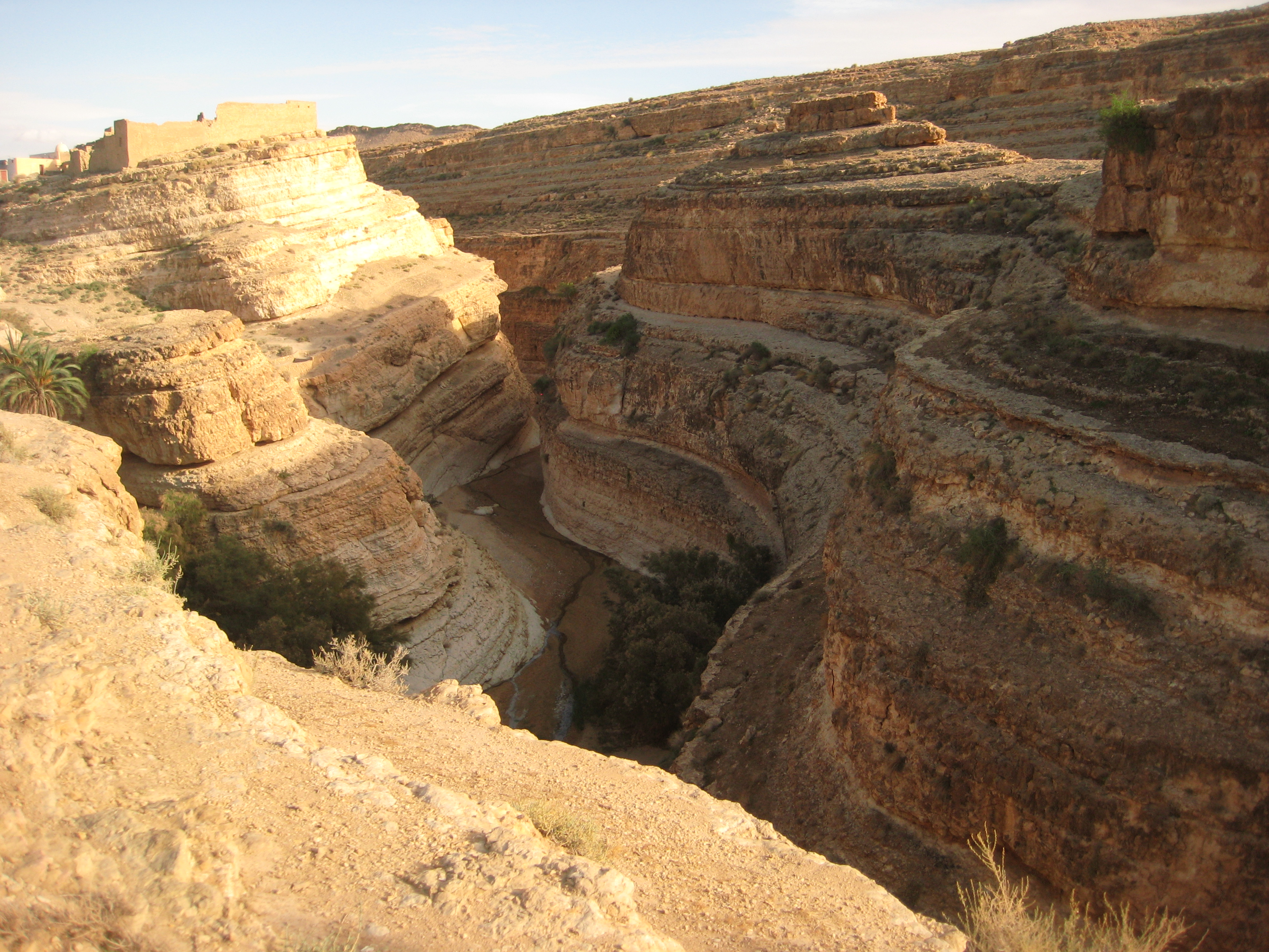 Un cayon à l'est de la Tunisie