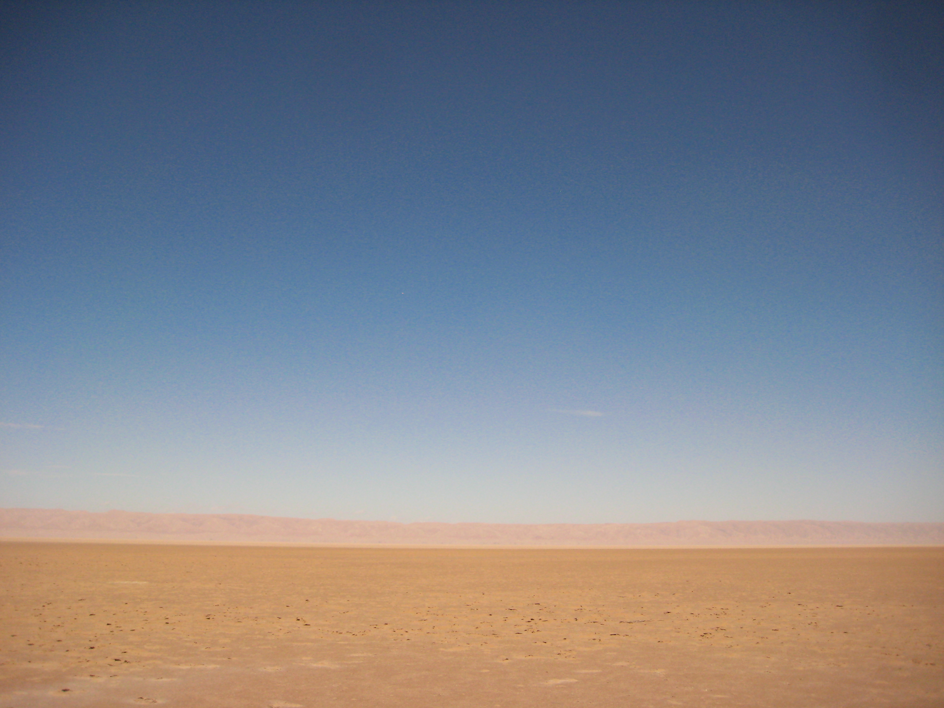 Un paysage lunaire en Tunisie