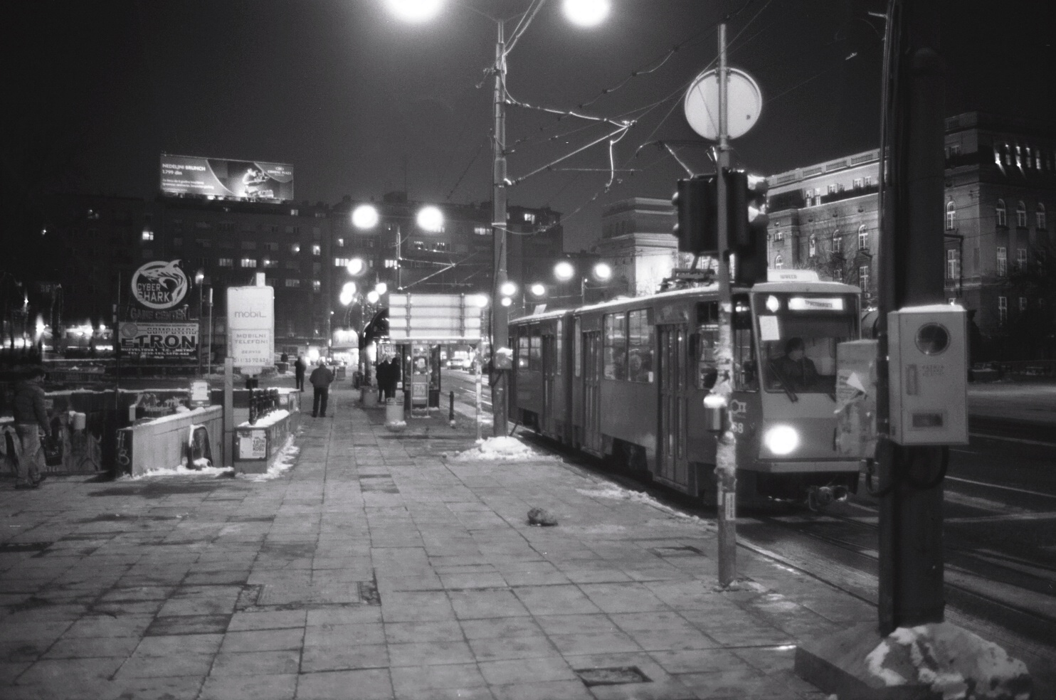 un tramway la nuit, Belgrade