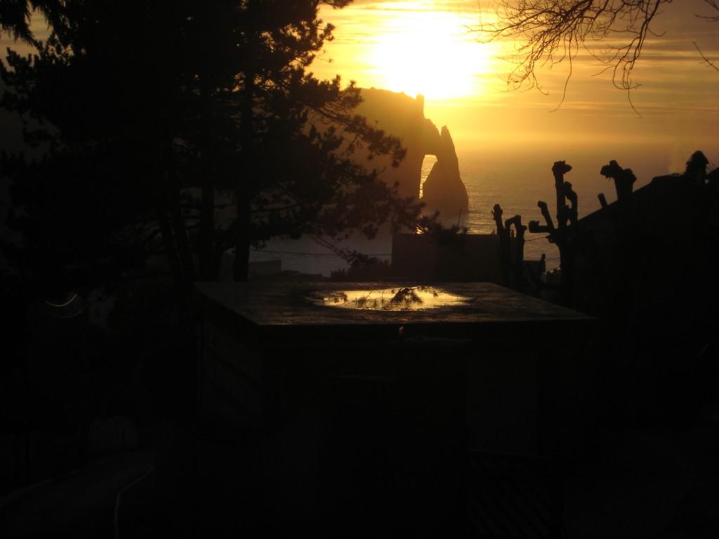 Etretat au coucher du Soleil