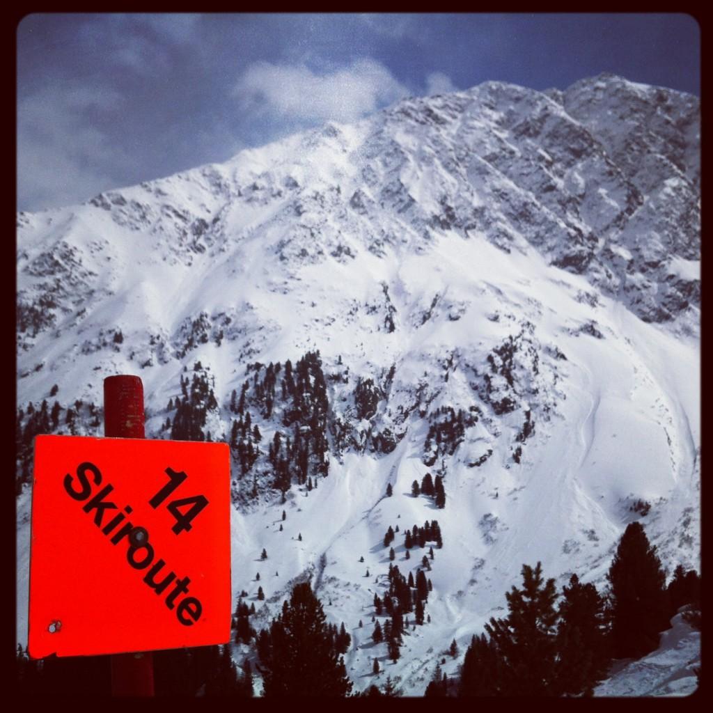 Ski route 14, Tyrol Autriche