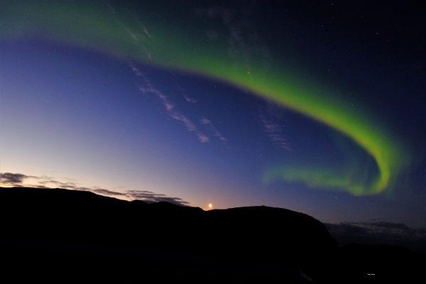 Une aurore boréale dans le grand nord norvégien