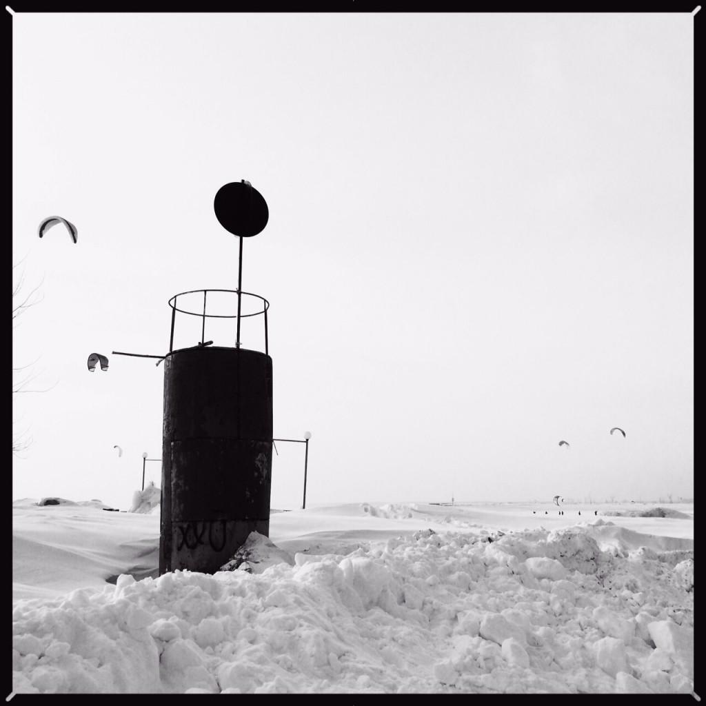 Un grand lac gelé en Sibérie