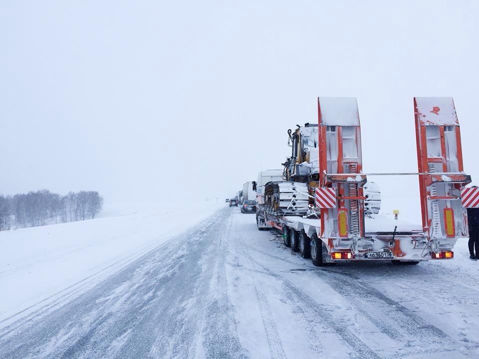 Sur une route en Sibérie