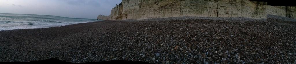 Panorama sur les falaises d'Étretat
