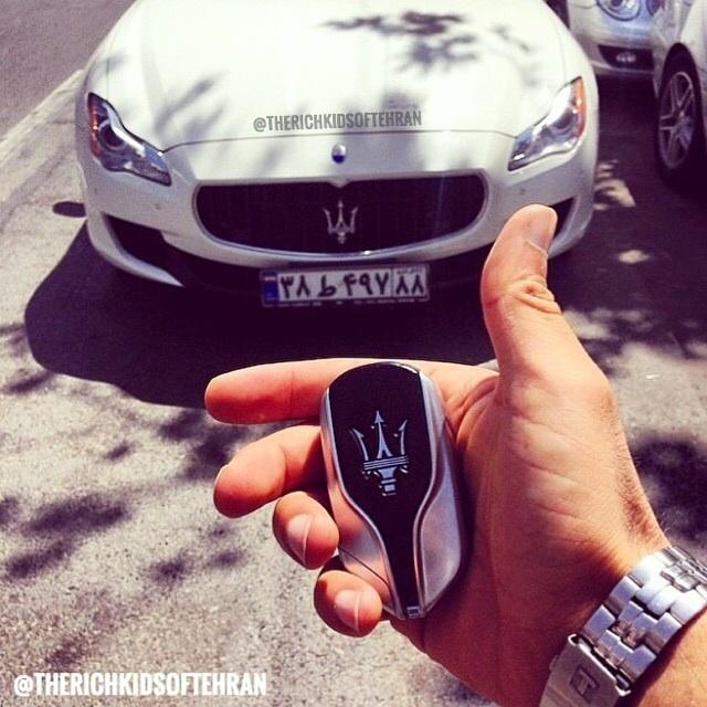 Maserati en plaque iranienne s'il vous plait