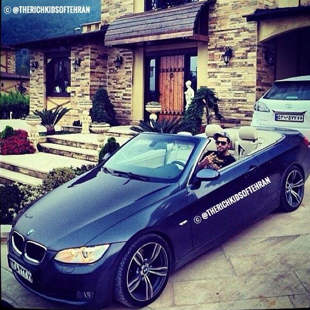 Décapotable BMW à Teheran, la dolce vita