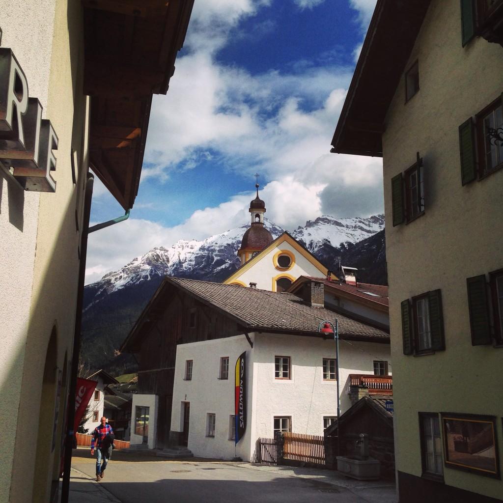 Le centre ville de Neustif im Stubaital