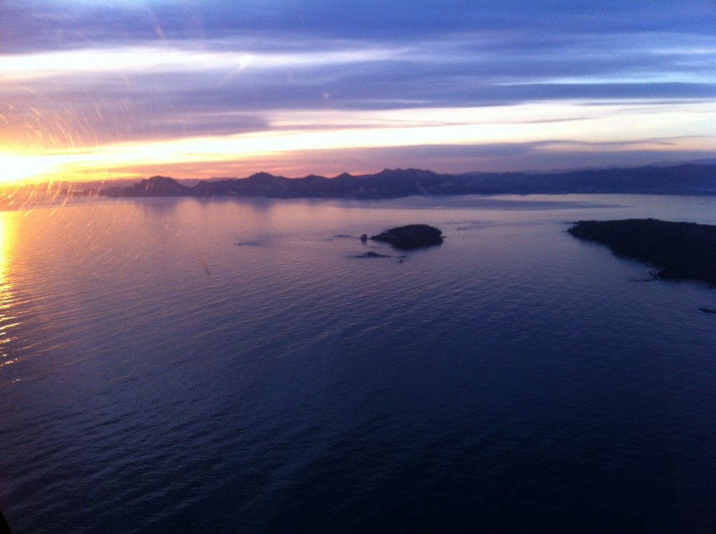 Coucher de soleil sur les îles du levant