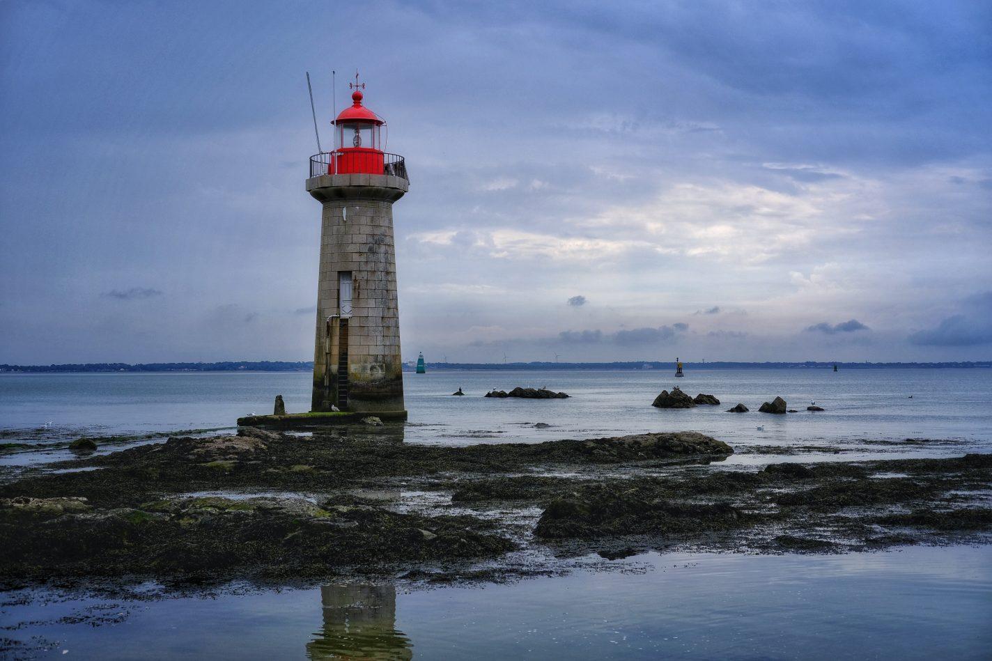 L'estuaire de la Loire en août un jour de mauvais temps