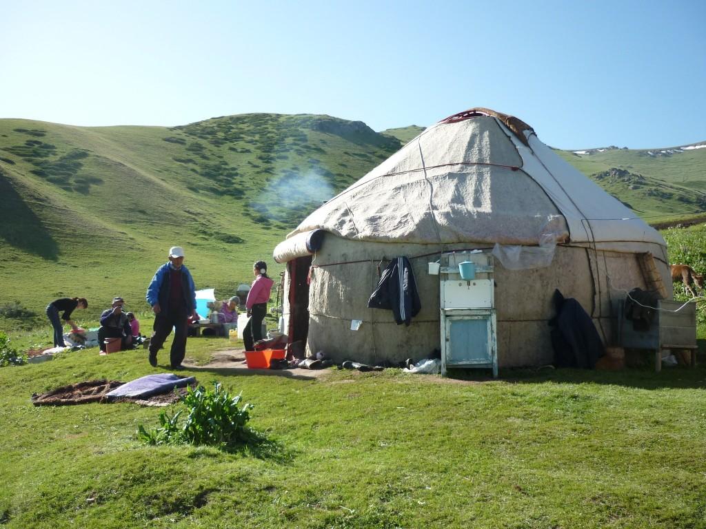 Le printemps en Asie centrale au Kirghizistan
