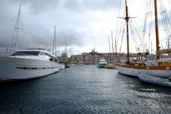 Le vieux port de Marseille, l'une des plus grandes villes de France