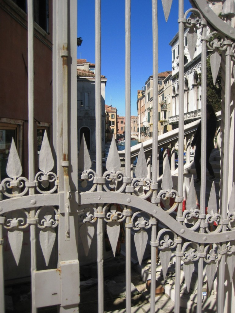 Les grilles d'un palais vénitien