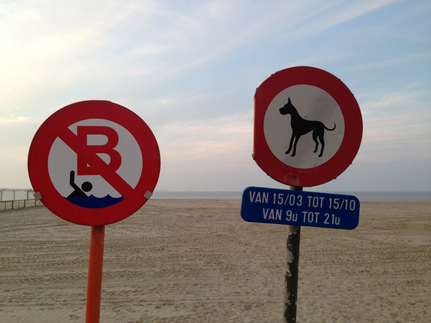Une plage en Belgique où la baignade est interdite