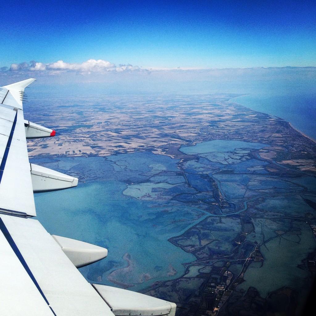 La lagune à Venise vue depuis un avion