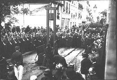 Exécution des chauffeurs de la Drôme en 1909. Crédits photo le musée des prisons / la documentation française