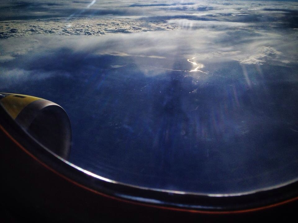 En avion au dessus du territoire français